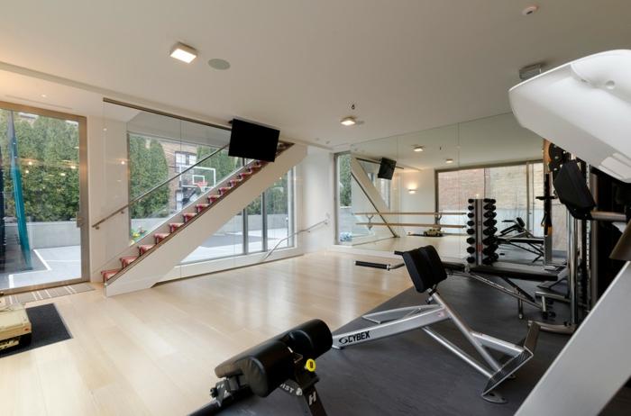 innendesign home fitness innentreppen schöne wohnideen