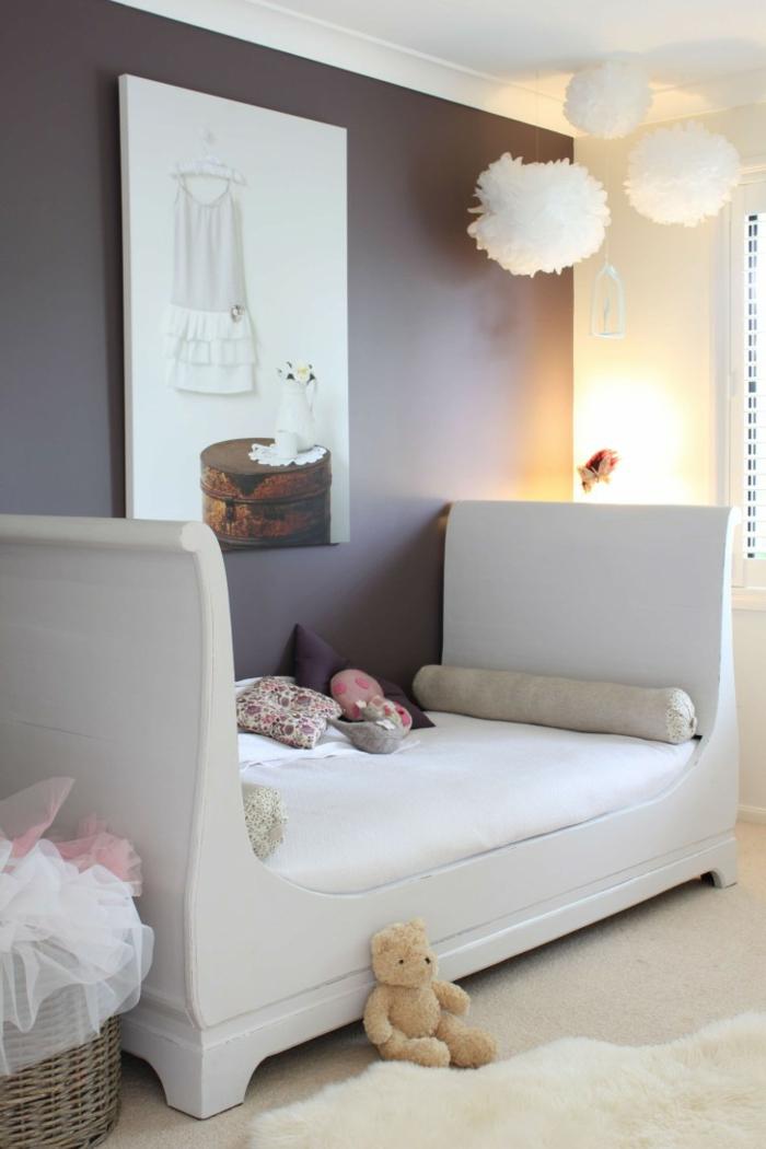 jugendzimmer einrichten ausgefallenes jugendbett graue wandfarbe mädchenzimmer