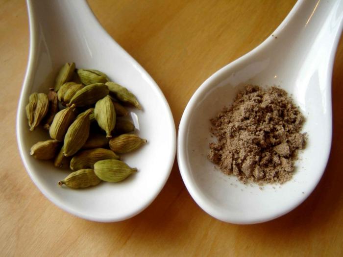 Elettaria cardamomum aromatisch gesund getrocknet frisch pulver