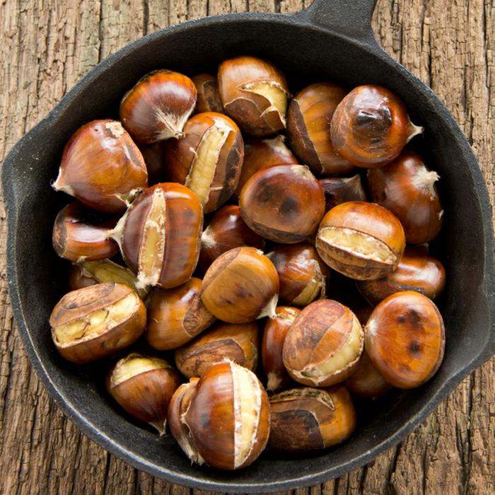 kastanien esskastanien edelkastanien maronen geröstet gesunder snack