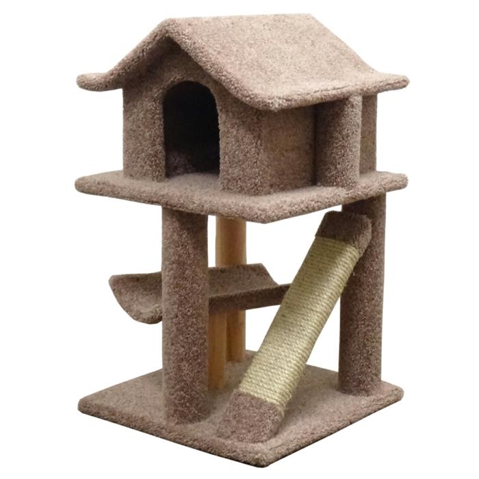 katzen erziehen hauskatzen haltung katzenmöbel kratzbaum haus