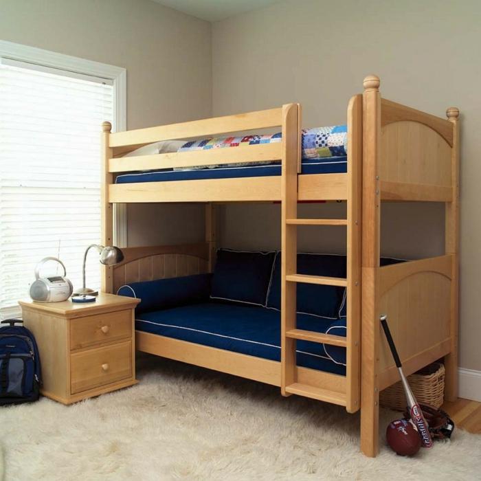 kinder etagenbett wohnideen kinderzimmer weißer teppich