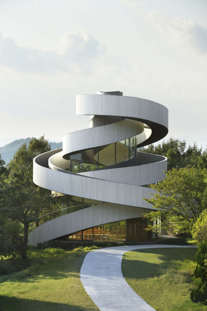 kirchliche trauung ribbon chapel hiroshi nakamura japan architektur aehnlich wie stoff