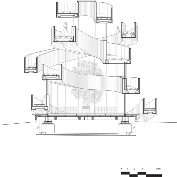 kirchliche trauung ribbon chapel hiroshi nakamura japan architektur bauzeichnung3