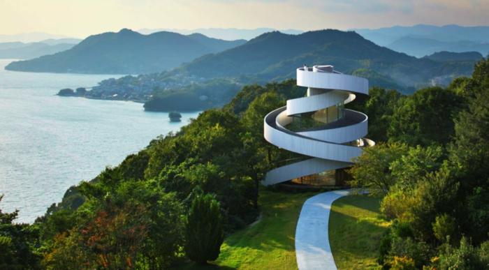 kirchliche trauung ribbon chapel hiroshi nakamura japan architektur luftbuilder
