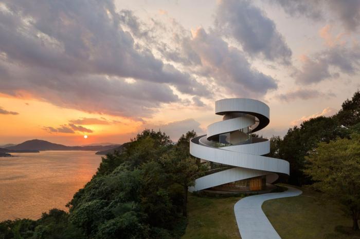 kirchliche trauung ribbon chapel hiroshi nakamura japan architektur modern
