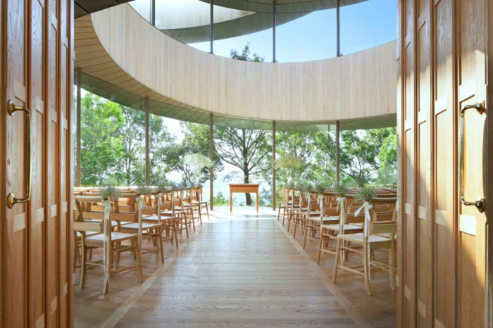 kirchliche trauung ribbon chapel hiroshi nakamura japan architektur trausaal