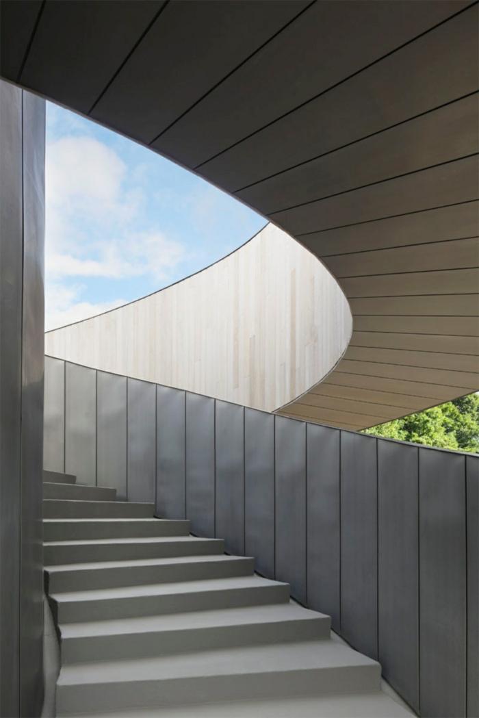 kirchliche trauung ribbon chapel hiroshi nakamura japan architektur treppe