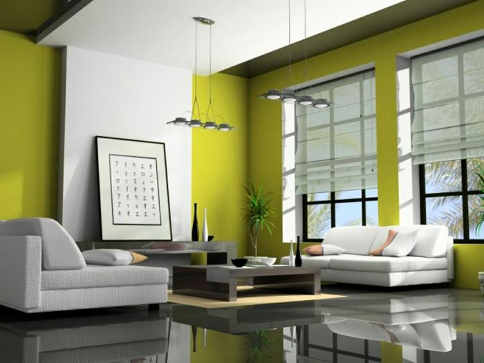 Wohnzimmer einrichten grau grün  Kleines Wohnzimmer einrichten - 57 tolle Einrichtungsideen für ...