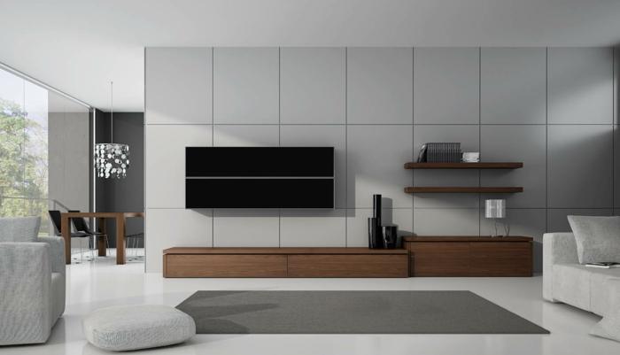 kleines wohnzimmer einrichten minimalistische inneneinrichtung wohnmöbel sitzkissen