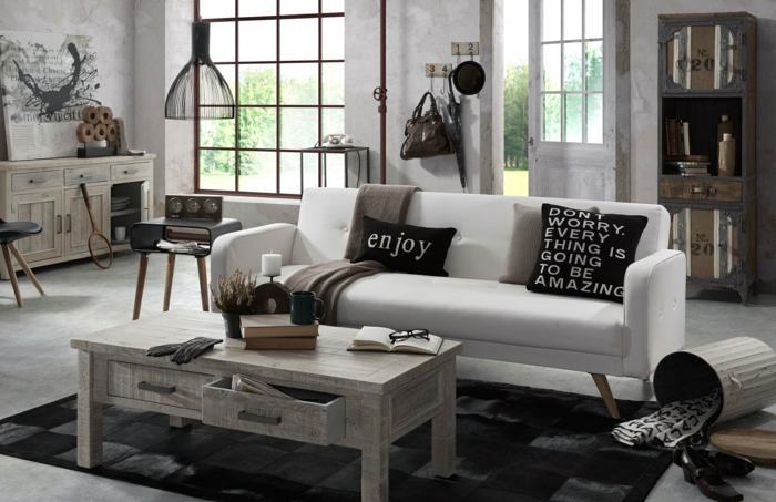 Kleines Wohnzimmer Einrichten Shabby Chic Stil Portobello Deko