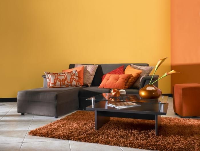 wohnzimmer » wohnzimmer braun orange - tausende bilder von ... - Orange Wand Wohnzimmer