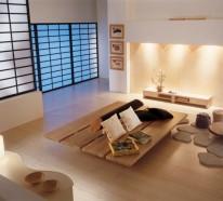 Kleines wohnzimmer einrichten 57 tolle einrichtungsideen for Sofa japanischer stil