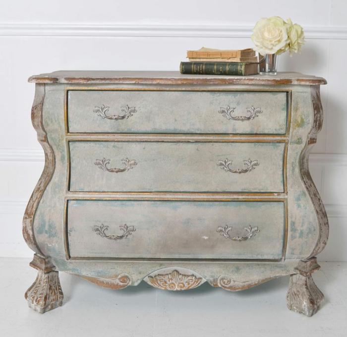 kommode shabby chic stil möbel diy antik möbel design