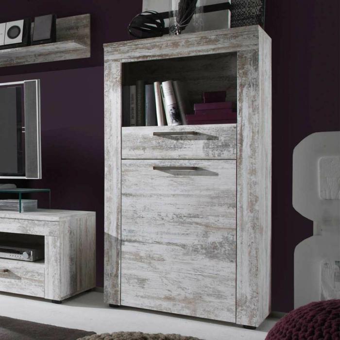 kommode shabby chic stil wohnzimmer möbel diy tv wohn wand