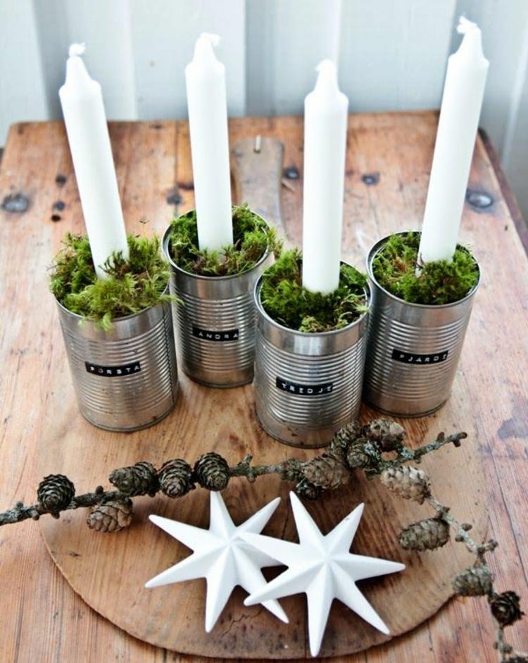 moderne Adventskränze basteln einfache Weihnachtsdeko Ideen