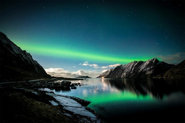 norwegen fjorde gruener himmel