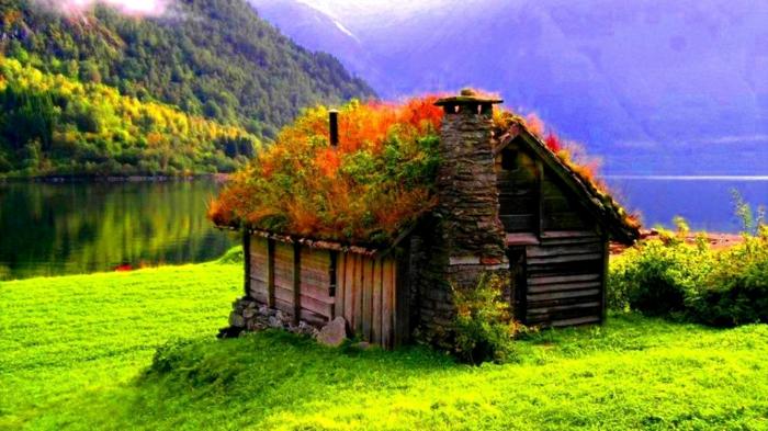 norwegen fjorde herbslicher sonnenaufgang