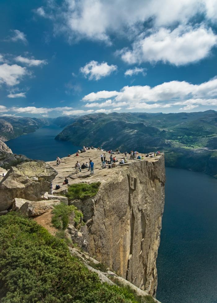 norwegen fjorde preikostollen lycefjord