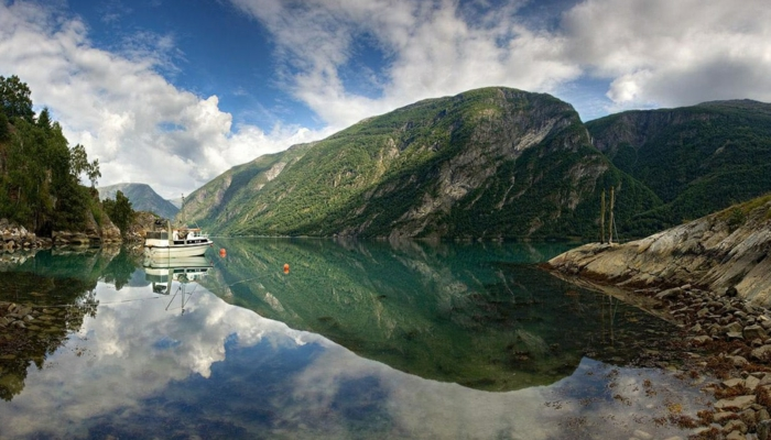 norwegen fjorde spiegelung