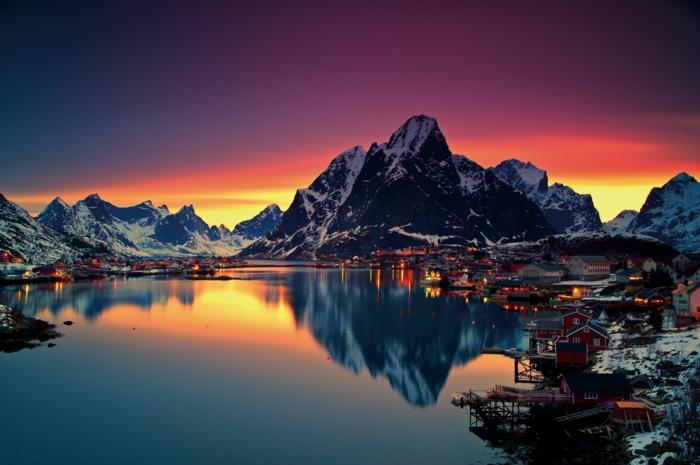 norwegische fjorde feuerrot