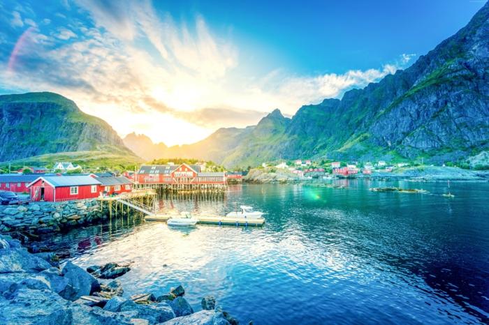 norwegische fjorde lichtspiel