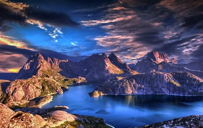 norwegische fjorde melange