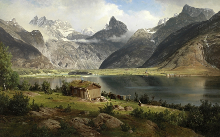 norwegische fjorde mit graulich