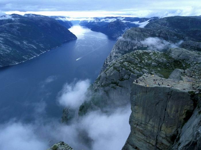 norwegen fjorde wasserfall geiranger eurpa schoenheit