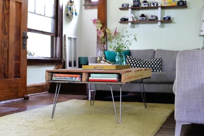 paletten diy möbel couchtisch wohnzimmer europalette