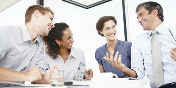 positives denken lernen kollegen lustiges gespräch