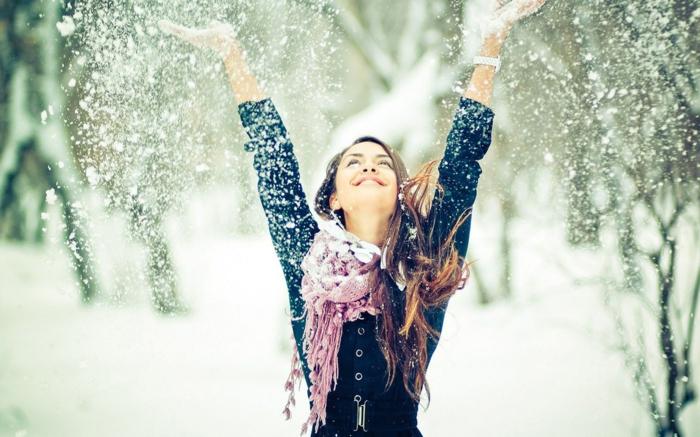 positiv denken lernen mädchen winter schnee