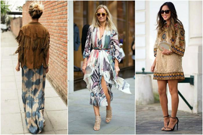 retro kleider herbst damenmode 2015 bunte fashion trends