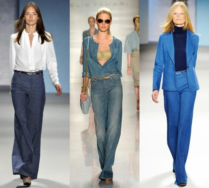 retro kleider herbst damenmode 2015 denim jeanshosen hemde oberteile