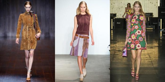 retro kleider herbst damenmode 2015 designermode wildleder