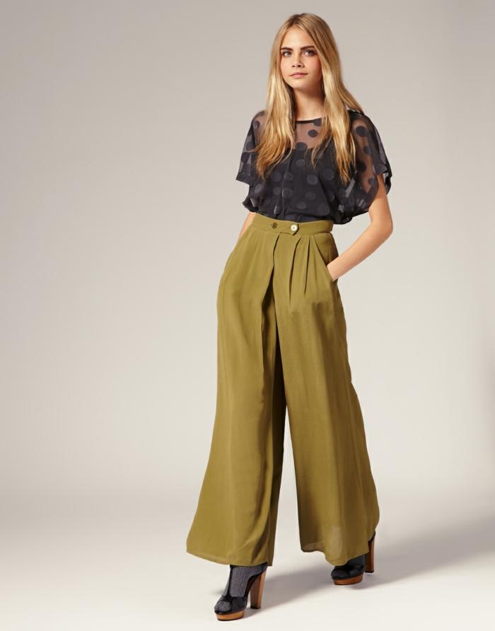 retro kleider herbst damenmode breite hose hohe absätze socken