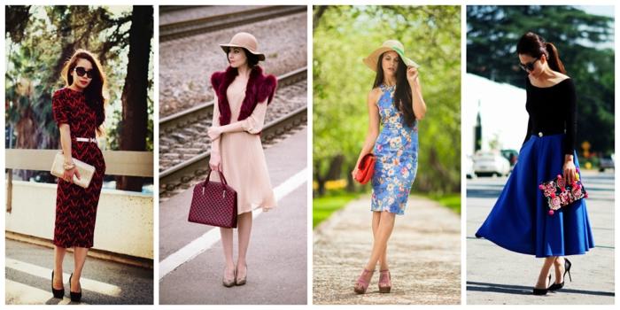 retro kleider herbst damenmode elegante bekleidung