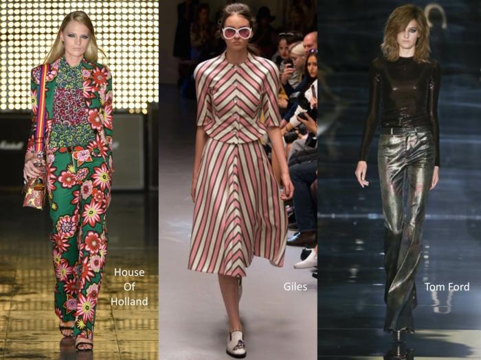 retro kleider herbst damenmode sommersaison london fashion week 2015