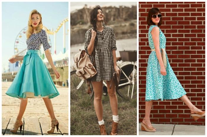 retro kleider herbst damenmode vintage kleidung kleid rock