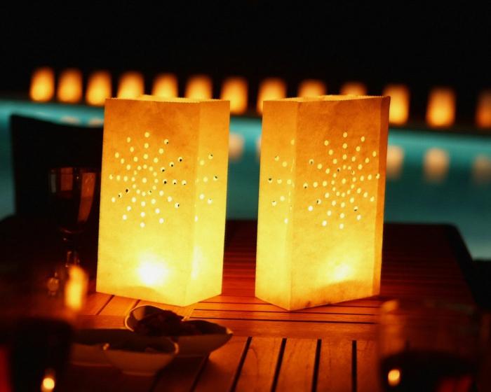 romantisch wohnen diy papier karton windlichter einweckgläser