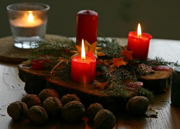 romantisch wohnen diy tischdeko weihnachten advent