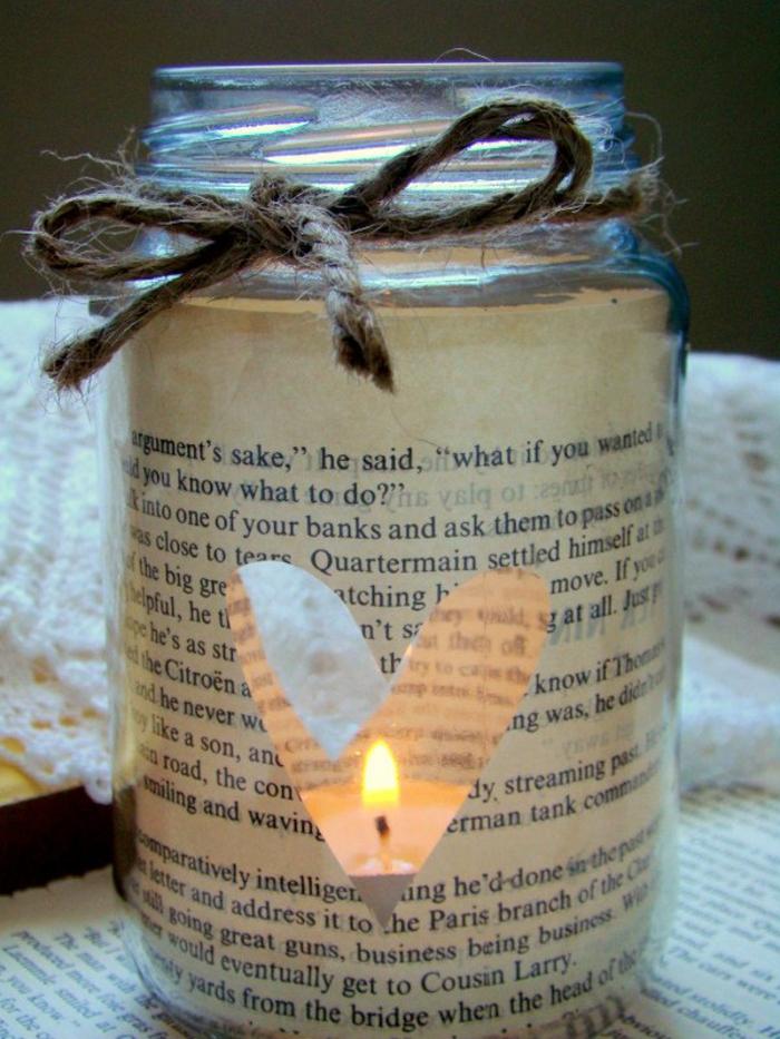 romantisch wohnen diy windlicht einwecklgas alte zeitung papier