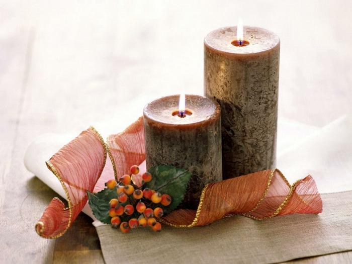 romantisch wohnen elegante herbst tischdekoration