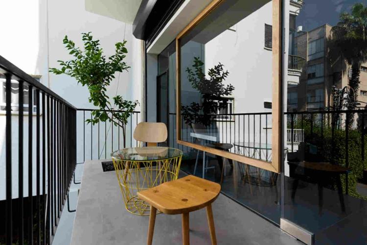 schöne Balkone Gestaltungsideen Balkonmöbel Set