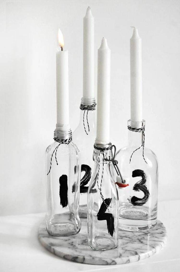 schöne Weihnachtsdeko DIY Adventskranz modern