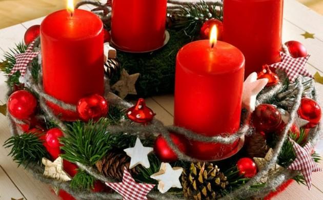 schöne-Weihnachtsdeko-basteln-Adventskränze