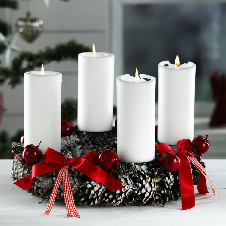 Schöne Weihnachtsdeko Selber Machen Einfache Moderne Adventskränze