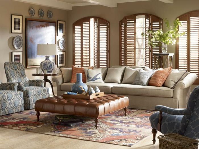 schöne sofas Bridgewater sofa wohnzimmer einrichten cooler couchtisch farbiger teppich