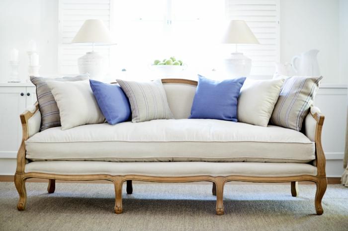 schöne sofas Cabriole Sofa dekokissen wohnzimmer einrichten
