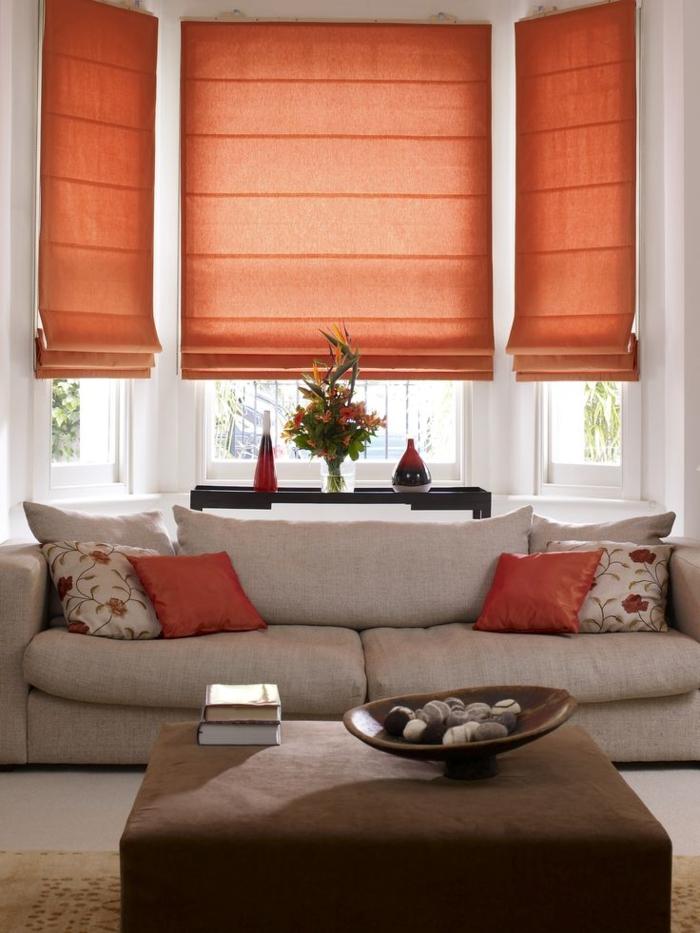 schöne sofas Lawson style Sofa wohnzimmer orange akzente